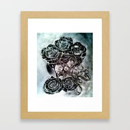 modern decay (invert) Framed Art Print