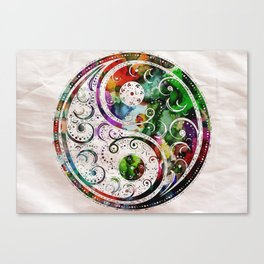 Yin and Yang Balance Poster Print by Robert R Canvas Print
