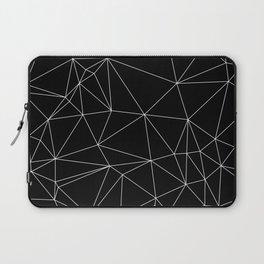 Geometric Black and White Minimalist Pattern Laptop Sleeve