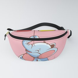 Elephant with balloon puzzle Fanny Pack