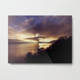 Loch Ness Sunset Metal Print