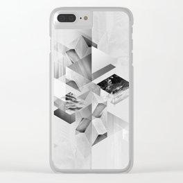 geometric woman III Clear iPhone Case