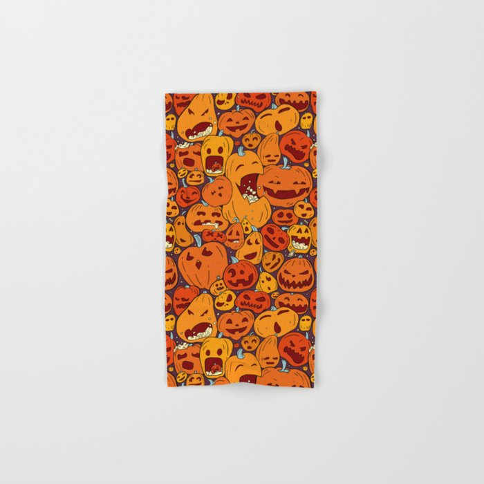 Halloween pumpkin pattern Hand & Bath Towel