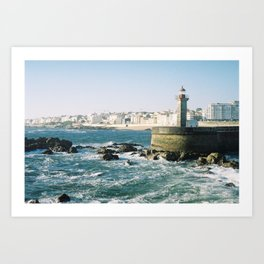 Lighthouse in the Waves Art Print