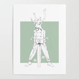 Weird & Wonderful: Racing Reindeer Poster