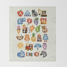 Alphabet Throw Blanket