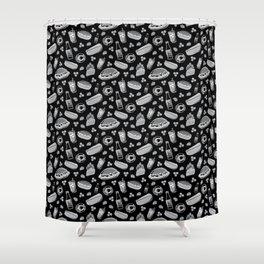 Skyline Chili Pattern Night Shower Curtain
