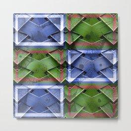 Bamboo Montage Metal Print