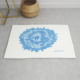 March's Blue 8 | Artline Drawing Pens Sketch Rug