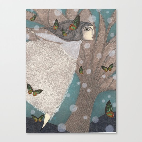 Finding Winter Canvas Print
