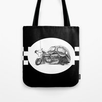 cafe racer Tote Bags featuring Cafe Racer II by Rainer Steinke