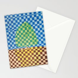 Tree in Field Stationery Cards
