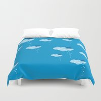 pee wee Duvet Covers featuring Bird pee by manecacamisasca