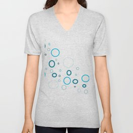 Blue bubbles Unisex V-Neck