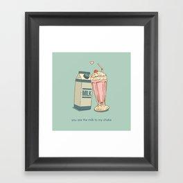 Milkshake Valentine Framed Art Print