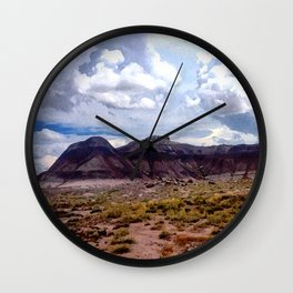Painted Desert Hills Wall Clock