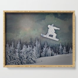 The Snowboarder Serving Tray