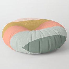 Zen Autumn Stripes Floor Pillow