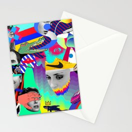 pop collage Stationery Cards