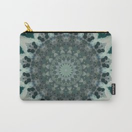 Silver Green Subdued Mandala Carry-All Pouch
