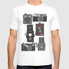 Cameras Mens Fitted Tee MEDIUM White