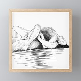 sex by the sea Framed Mini Art Print