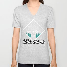 Hike More Funny Hiking Lover Mountain Shirt Unisex V-Neck