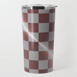 Rose gold and silver 8 by 8 chess board Travel Mug