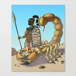 Serket the Scorpion Goddess Canvas Print