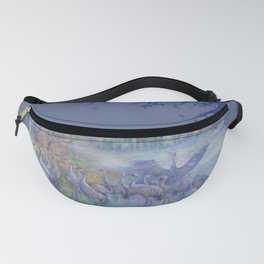 Forest lake birds Fanny Pack
