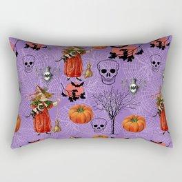 Vintage Halloween Pattern Rectangular Pillow