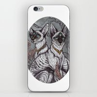 caitlin hackett iPhone & iPod Skins featuring Gift of Sight art print by Caitlin Hackett