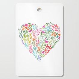 Floral Heart Cutting Board