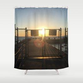 Gated Sunrise Shower Curtain