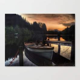 Golden Sunset over Loch Ard Canvas Print