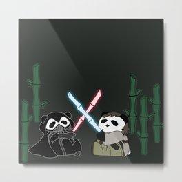 Panda Wars Metal Print
