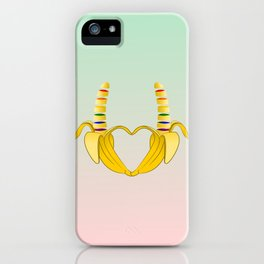 Gay Pride Banana Heart iPhone Case