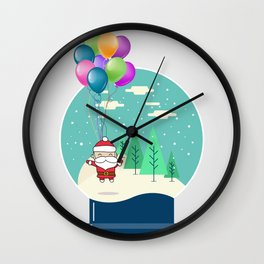 Santa Ride Ballons Wall Clock