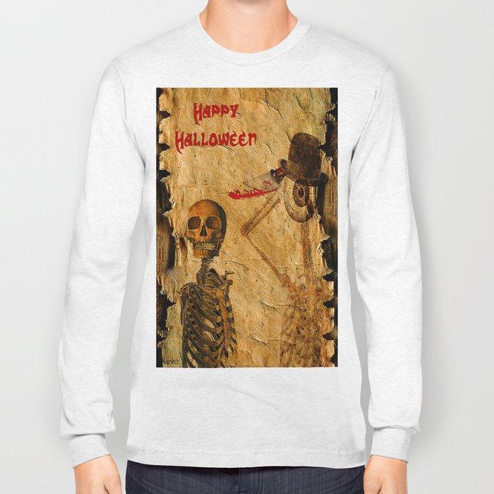 Halloween for Monsieur Bone Long Sleeve T-shirt