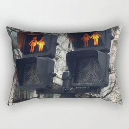 Gay Street Lights (Lesbian Couple) Rectangular Pillow
