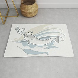 The Friendly Narwhal Rug