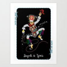 Peruvian Scissors Dancer Art Print