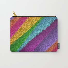 Rainbow colored mosaic pattern digital art Carry-All Pouch