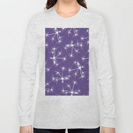 Floral Fireworks - Ultra Violet Botanical Pattern Long Sleeve T-shirt