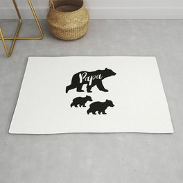 Papa Bear T Shirt with Two Cubs Rug