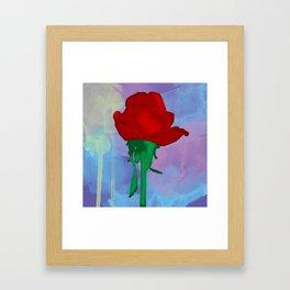Painted Rose Framed Art Print