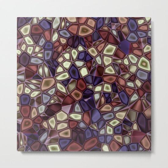 Fractal Gems 01 - Fall Vibrant Metal Print