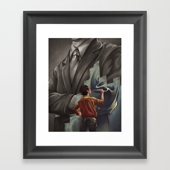 Out with the Old, In with the New Framed Art Print