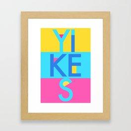 Yikes YBP Framed Art Print
