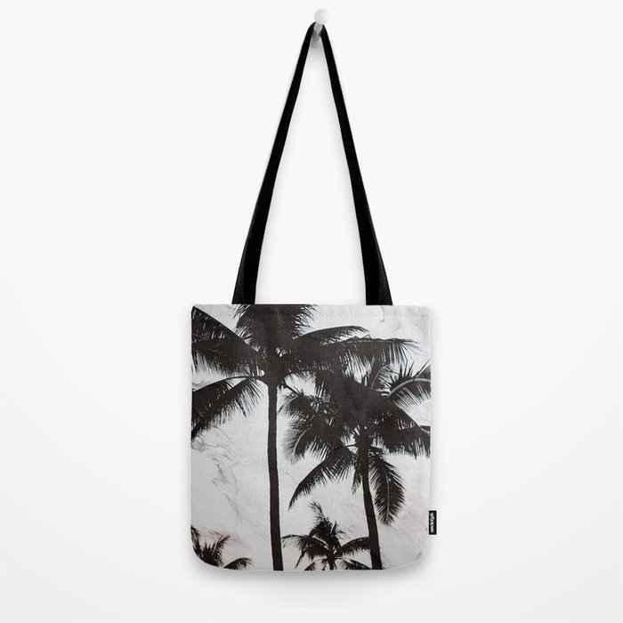 Velvet Palm trees on marble Tote Bag
